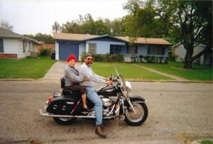 Grandma on motorcycle